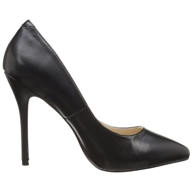 3a03a39c svart matt 13 cm AMUSE-20 dame pumps sko stiletthæl