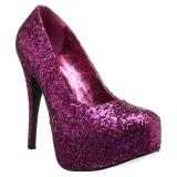 rosa glitter 14,5 cm Burlesque TEEZE-06GW pumps for brede føtter til menn