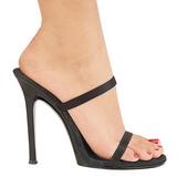svart 11,5 cm Fabulicious GALA-02 høyhælte slipper sko