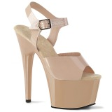 Beige 18 cm ADORE-708N Platform High Heels Shoes
