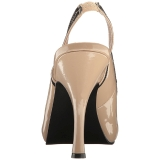 Beige Patent 11,5 cm PINUP-10 big size sandals womens