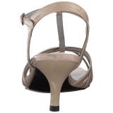 Beige Patent 6 cm KITTEN-06 big size sandals womens