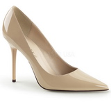 Beige Shiny 10 cm CLASSIQUE-20 Pumps High Heels for Men