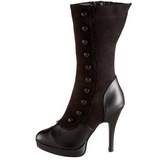 Black 11,5 cm SPLENDOR-130 womens platform soled ankle boots