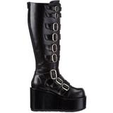 Black 11 cm CONCORD-108 lolita knee boots goth platform boots