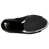 Black 15 cm DELIGHT-1008SQ womens sequins ankle boots