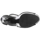 Black 15 cm DELIGHT-690 womens platform soled ankle boots