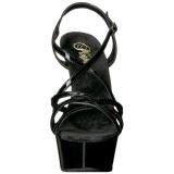 Black 15 cm Pleaser DELIGHT-613 Womens High Heel Sandals