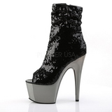 Black 18 cm ADORE-1008SQ womens sequins ankle boots