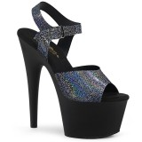 Black 18 cm ADORE-708N-MG Hologram platform high heels shoes