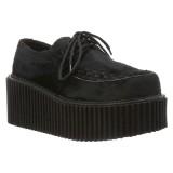 Black 7,5 cm CREEPER-202 creepers shoes women - rockabilly platform shoes