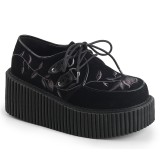 Black 7,5 cm CREEPER-219 creepers shoes women - rockabilly platform shoes