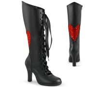 Black 9,5 cm GLAM-243 Demonia high heeled lace up boots