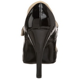 Black Beige 11,5 cm TEMPT-07 Womens Shoes with High Heels