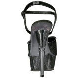 Black Glitter 15 cm DELIGHT-609-5G High Heel Platform