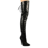 Black Leather 13 cm LEGEND-8899 overknee high heel boots