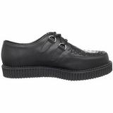 Black Leather 2,5 cm CREEPER-602 Platform Mens Creepers Shoes