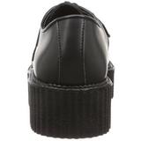 Black Leather 5 cm CREEPER-402 Platform Mens Creepers Shoes