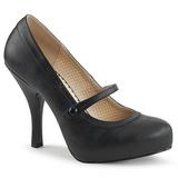 Black Leatherette 11,5 cm PINUP-01 big size pumps shoes