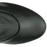 Black Leatherette 15 cm KISS-3000 Platform Thigh High Boots