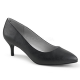 Black Leatherette 6,5 cm KITTEN-01 big size pumps shoes