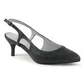 Black Leatherette 6 cm KITTEN-02 big size pumps shoes