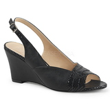 Black Leatherette 7,5 cm KIMBERLY-01SP big size sandals womens