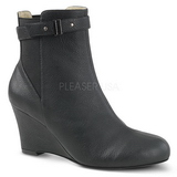 Black Leatherette 7,5 cm KIMBERLY-102 big size ankle boots womens