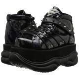 Black Leatherette 7,5 cm NEPTUNE-100 Platform Mens Gothic Shoes