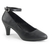 Black Leatherette 8 cm DIVINE-431W High Heel Pumps for Men