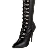 Black Matte 13 cm SEDUCE-3024 High Heeled Overknee Boots