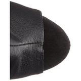 Black Matte 15 cm DELIGHT-1019 womens fringe ankle boots high heels
