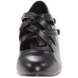 Black Matte 5 cm retro vintage DAME-02 Pumps with low heels