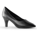 Black Matte 8 cm DIVINE-420W Pumps with low heels