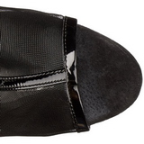 Black Mesh 16 cm Pleaser DELIGHT-1018MSH Platform Ankle Calf Boots