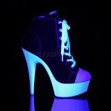 Black Neon 15 cm DELIGHT-600SK-02 Canvas high heels chucks