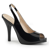 Black Patent 12,5 cm EVE-04 big size sandals womens