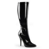 Black Patent 13 cm Pleaser SEDUCE-2000 Women Knee Boots