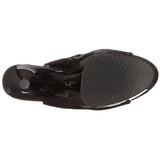 Black Patent 18 cm Pleaser ADORE-1018 Platform Ankle Calf Boots