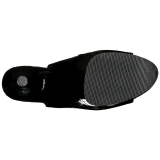 Black Patent 20 cm Pleaser FLAMINGO-1018 Platform Ankle Calf Boots