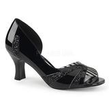 Black Patent 7,5 cm JENNA-03 big size pumps shoes