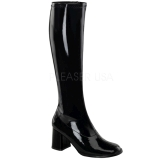 Black Patent 8,5 cm Funtasma GOGO-300 Women Knee Boots