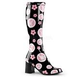 Black Patent 8,5 cm Funtasma GOGO-300FL Hippie Women Knee Boots