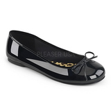 Black Patent ANNA-01 big size ballerinas shoes