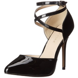Black Shiny 13 cm AMUSE-25 Pumps High Heels for Men