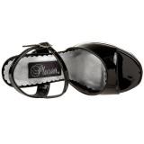 Black Shiny 13 cm DEMONIA DOLLY-09 High Heels Platform