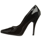 Black Shiny 13 cm SEDUCE-420 Pumps High Heels for Men