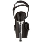 Black Shiny 14 cm ALLURE-609 Platform Stiletto High Heels