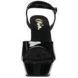 Black Shiny 14 cm Pleaser DIAMOND-609 Platform Stiletto High Heels