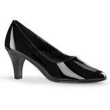 Black Shiny 8 cm DIVINE-420W High Heel Pumps for Men